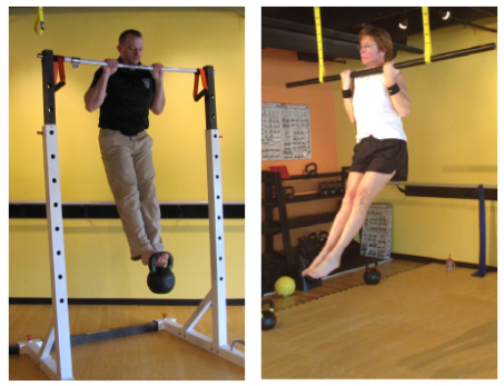 Scott & Jean demonstrating pullups & chinups