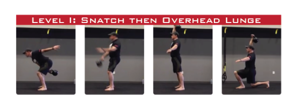 Snatch then Overhead Lunge