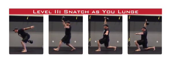 Kettlebell Snatch as You Lunge