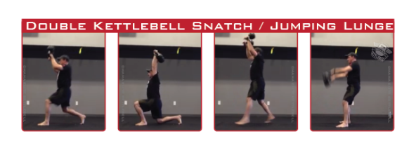 Double Kettlebell Snatch to Jumping Lunge: Omaha Elite Kettlebell