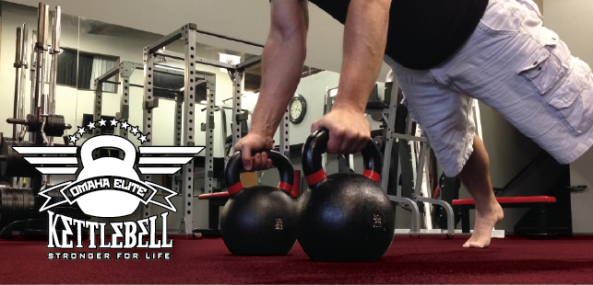 Double Kettlebell Renegade Row Omaha Elite Kettlebell