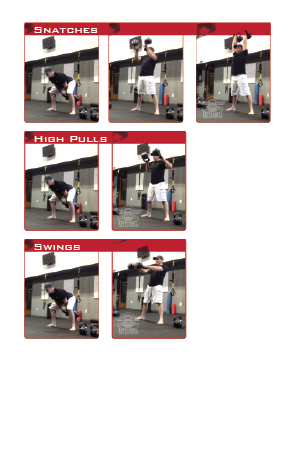 Omaha Elite Kettlebell: Double Kettlebell Ballistics Swings, double Kettlebell High Pulls, double Kettlebell Snatches